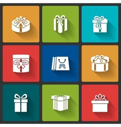 Gift boxes icons vector