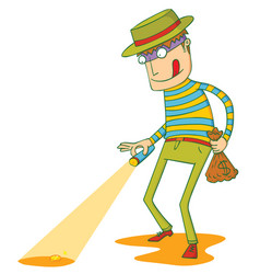 greedy thief vector image