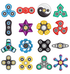 hand spinner set vector image