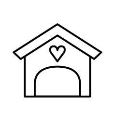 house love isolated icon vector image