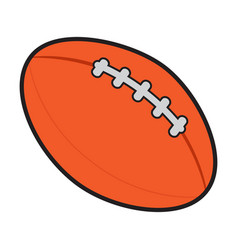 isolated football ball vector image vector image