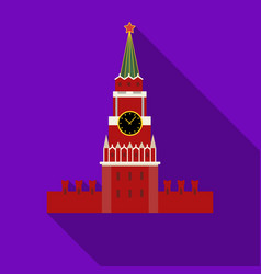 Kremlin icon in flat style isolated on white vector
