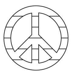 Lgbt peace sign icon outline style vector