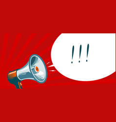 loudspeaker megaphone bullhorn advertising vector image vector image