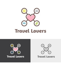 Outline travel agency logotype vector