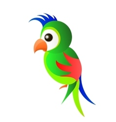 Parrot logo bird vector