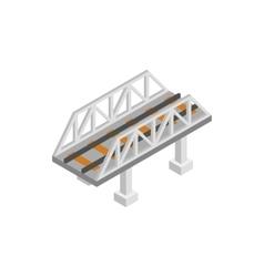 Rail bridge isometric 3d icon vector
