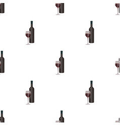 Red wine icon in cartoon style isolated on white vector