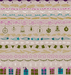 Set of Christmas and decorative elements Gifts vector image vector image