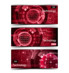 Set of modern scientific banners vector