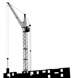 Silhouette cranes vector image vector image
