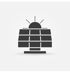 Solar energy icon or logo vector image