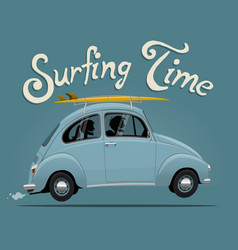 Summer vacation surfing trip themed vector