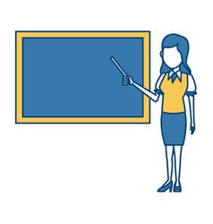 Teacher with blackboard vector