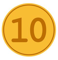 ten gold coin vector image vector image