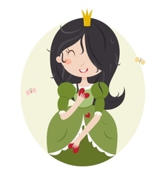 Virgo cute horoscope vector image