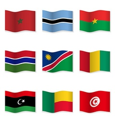 Waving flags of different countries vector