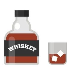 Whiskey bottle vector image vector image