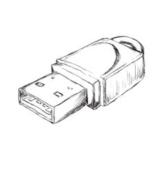 Usb sketch icon gadget and technology design vector