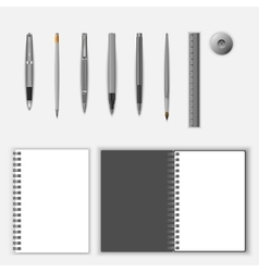 Stationery template set vector