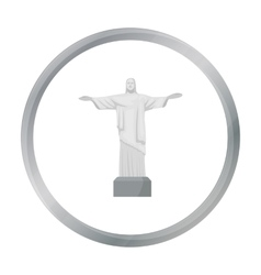 Christ the redeemer icon in cartoon style isolated vector