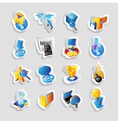 Icons for technology and interface vector image