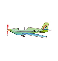 A view of airplane vector image