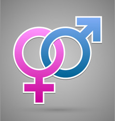 Venus and mars female and male symbol vector