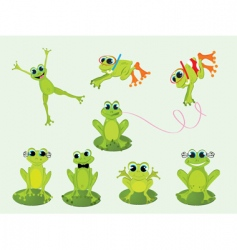 Frogs set vector