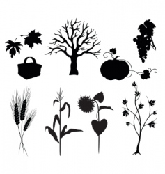 autumn silhouettes vector image