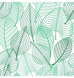 Foliage green leaves seamless pattern vector