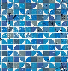 Blue seamless aged mosaic background vintage vector