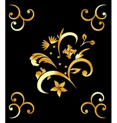 Royal gold pattern vector