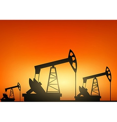 Oil pump oil rig energy industrial machine vector image