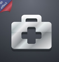 First aid kit icon symbol 3d style trendy modern vector
