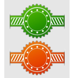label in two colors vector image