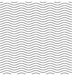 Wavy line black-white seamless pattern vector image