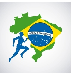 Brazil and the olympic sports isolated icon design vector