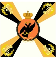 White Flag Life Guard Lithuanian Regiment vector image