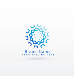Abstract mandala style logo concept design vector