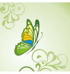 Background with butterfly vector