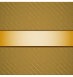 Background with golden ribbon vector image