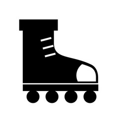 black icon roller skates vector image