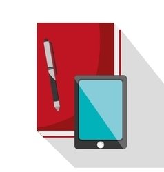 Book smartphone and worktime design vector