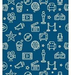 Cinema background pattern vector