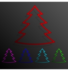 Color set tree banners frame template for design vector