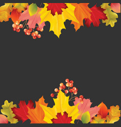 colorful card banner with autumn leaves vector image