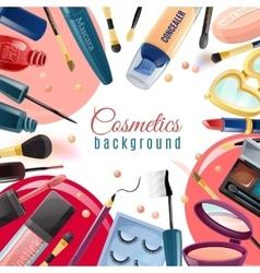 Cosmetics flat background vector