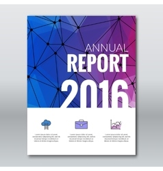 Cover annual report business colorful triangle vector