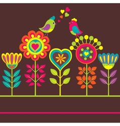 Decorative colorful flower vector